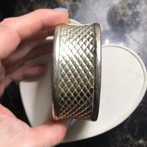 BCBG Silver Clamp Cuff
